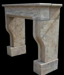 Simple Clean Lines On This Marble Fireplace Mantel With French Old World Design