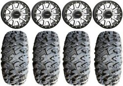 System 3 Sb-3 Machined 14 Wheels 28 Motoclaw Tires Can-am Commander Maverick