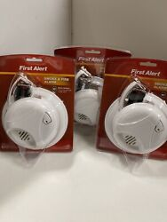 Pack Of 3 Bin7 First Alert Smoke And Fire Alarm Detector Brand New