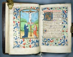 Medieval Book of Hours - Latin Manuscript - LES HEURES - 1475