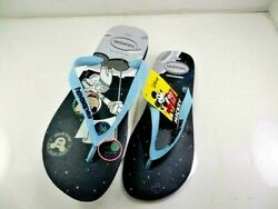 Havaianas Disney Mickey Mouse 90th Band039day Blue Flip Flop Size 13 Eur 45/46 Nwob