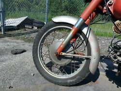 1962 Vintage Harley Aermacchi Sprint 250 Front Wheel With Brakes And Tire Oem