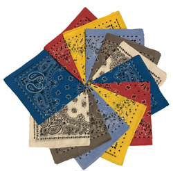King Cannon - Paisley printed round Bandanas - 1 6 12 pieces $3.99
