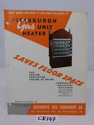 1940's Advertising Brochure Pamphlet-automatic Gas Steam-unit Heater Hanging