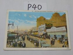 Vintage Postcard Used Stamp Atlantic City New Jersey Rolling Chair Parade 1928