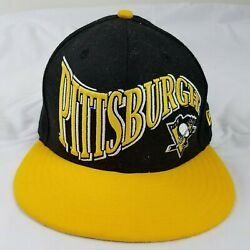 Pittsburgh Penguins New Era 59fifty Nhl City Pennant Fitted Cap Hat - Size 7 3/8