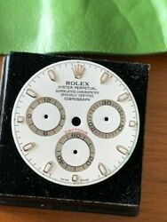 Rolex White Swiss Made Aph Daytona Dial For Stainless Steel 116520 Watch Error