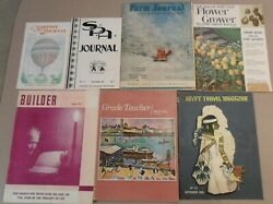 7 Vintage Magazines From 1955 And 1956 Grade Teacher, Farm Journal, And Others