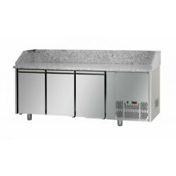Refrigerated Pizza Counter Gn 1/1 Ventilated Pz03ekogn - 200 Cm