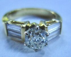 18k Two Tone Gold Diamond Engagement Right Hand Ladies Ring