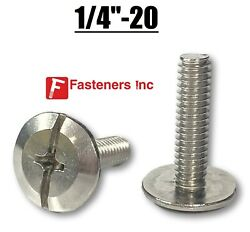 1/4-20 Stainless Steel Phillips / Slotted Hurricane Sidewalk Bolts Choose Size