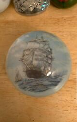 Large Vintage Ship Paperweight - Great Condition - Nice Quality And Details