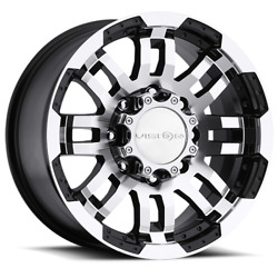 17x8.5 Vision Off-road 375 Warrior Black Machined Wheels 8x170 18mm Set Of 4