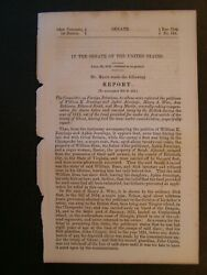 Government Report 1856 Comp For Slaves Taken And Carried Away By British War 1812