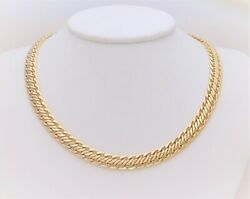 Signed Sandroni Oro 18k Gold Chain Necklace From Arezzo In Florence Italy