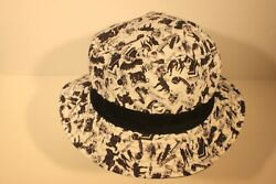 GHOSTBUSTERS WHITE AND BLACK BUCKET HAT ADULT SIZE NEW $12.99