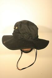 BLACK BUCKET HAT WITH DRAWSTRING ADULT SIZE NEW $9.99