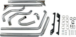 Bassani Manufacturing - 1s46e-33 - True Duals With 33in. Fishtail Muffler Harley