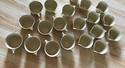Vintage Texas Ware Cream Ivory Tan Melamine Drinking Cups Saucers Set Of 19