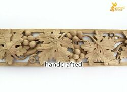 Wood Carved Applique Molding For Wall, Furniture, Fireplace Mantel