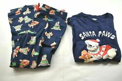 Old Navy Puppy Pug Womenand039s L/xl Gingerbread Christmas Sleepwear Pants And Top