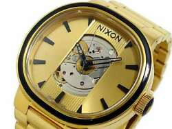 Nixon A089-510 Capital Automatic Stainless Steel 37mm Unisex Gold Watch 100m