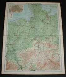 Map Of Germany - Western Section From 1920 Times Atlas Plate 40 Bremen Etc.