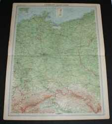 Map Of Germany - Eastern Section From 1920 Times Atlas Plate 41 Berlin Etc.