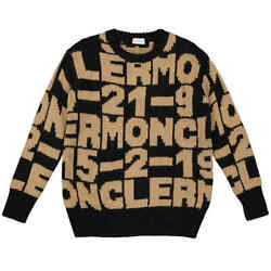 Moncler Ladies Embroidered Knit Sweater