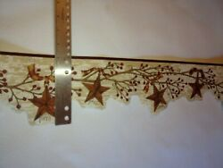 Laser Cut Stars And Berries On Branches Prepasted Wallpaper Border Hah15051b