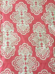 Lee Jofa Lilly Pulitzer Shell We Novelty Remnants Pink Salmon 100 Linen