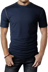 H2h Mens Active Cool Pass Cool Dry Fit Short Sleeve T-shirts