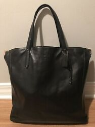 Coach Large Black Leather Tote Workbag $50.00