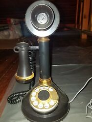 Beautiful Vintage Working Candlestick Phone