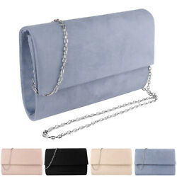 Women Suede Evening Clutch Chain Shoulder Crossbody Purse Bag For iPhone 12 Pro $19.99