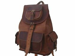New Vintage Leather Travel Shoulder Satchel Backpack School Bag Handbag $48.45