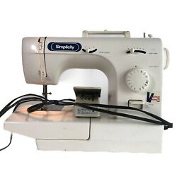 Simplicity Sewing Machine Model Sl415 With Foot Pedal Tested Works