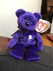 Ty Beanie Babies  Princess Diana Bear From 1997 Rare With Tag Errors.