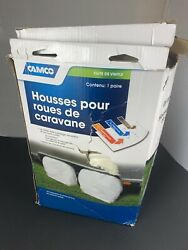 Camco 45335 Tire Cover Rv Covers-accessories 36-39 1 Pair Vinyl Colonial White