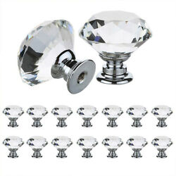 Crystal Glass Cabinet Drawer Pulls Knob Cupboard Knobs Handle Lots Home 10pcs 7