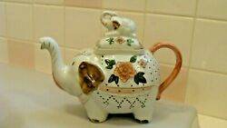Vintage Ceramic Adorable Elephant Mom With Baby Teapot