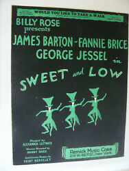 Would You Like To Take Walk Sweet And Low 1930 Billy Rose Mort Dixon Harry Warren