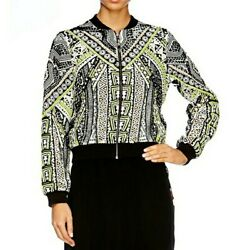 Camilla Believe Weave Embroidered Beaded Silk Bomber Jacket Size Xs New 2000