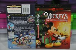 Rare Disney Artwork Cover Dvd Mickeyand039s Once Upon A Christmas Signed