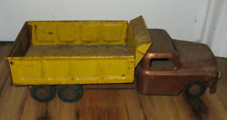 Vtg 1950's Structo Toys Hydraulic Dump Truck Pressed Steel Construction Parts