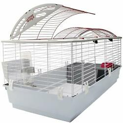Nice Rabbit Cage House Large 46x22x24 Water Bottle Hay Rack Food Dish Deluxe