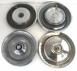 Vintage Hubcaps Lot Of 32 Cadillac Chevy Ford Buick More Collectible Aluminum