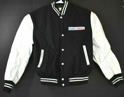 Sams Choice Menand039s Xl Cola Bomber Varsity Jacket Vintage Collectible Black/white