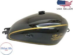 Velocette Mac Mov Mdd 350 Black Painted Aluminum Tank |fit For