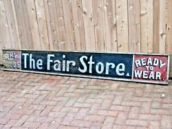 Antique Large Hand Painted Wood General Store Advertising Sign C.1880's